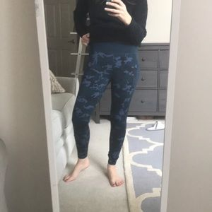 Blue Camo work out leggings